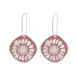 Frozen Sunshine Rose Gold Mirror Earrings - Mikmat Designs Earrings Laser Cut Designs