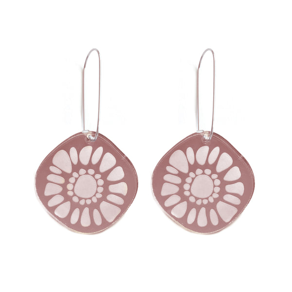 Frozen Sunshine Rose Gold Mirror Earrings - Mikmat Designs