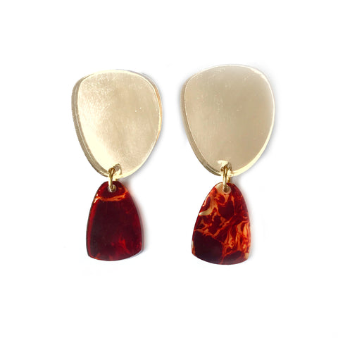 Luna Gold & Tortoise Shell Earrings