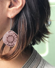Load image into Gallery viewer, Frozen Sunshine Rose Gold Mirror Earrings - Mikmat Designs