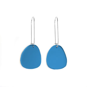 Pendulum Hook Earrings Mirror Blue