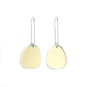 Pendulum Hook Earrings Gold Mirror - Mikmat Designs Earrings Laser Cut Designs