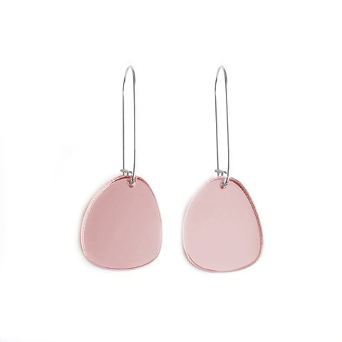 Pendulum Hook Earrings Rose Gold - Mikmat Designs