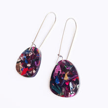 Load image into Gallery viewer, Acrylic earrings in lots of colours. Black, white, mutlicolour, mint green, pink, gold, rose gold and tortoise shell earrings.
