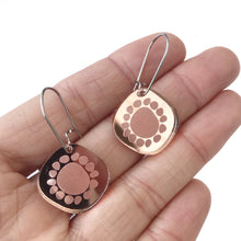 Load image into Gallery viewer, Mini Sunshine Earrings Rose Gold Mirror - Mikmat Designs Earrings Laser Cut Designs