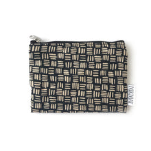 Load image into Gallery viewer, Small pouch with zipper in Black Dashed Linen - Mikmat Designs