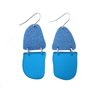 Reflection Earrings Blue