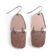 Load image into Gallery viewer, Reflection Earrings Rose Gold - Mikmat Designs
