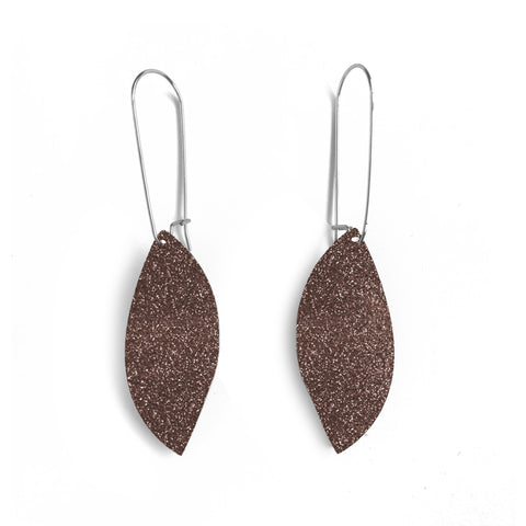 Swing Hook Earrings Rose Glitter - Mikmat Designs