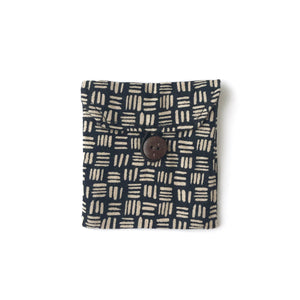 Pocket in Black Linen Dash - Mikmat Designs