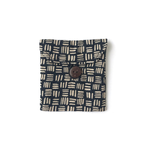 Black Linen Dash Pocket