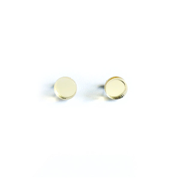 Dot Mirror Stud Earrings CHOOSE YOUR COLOUR - Mikmat Designs Earrings Laser Cut Designs