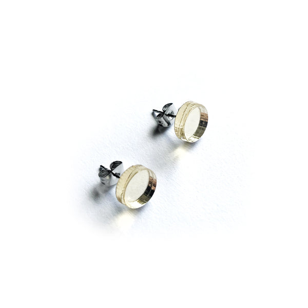 Dot Mirror Stud Earrings CHOOSE YOUR COLOUR - Mikmat Designs