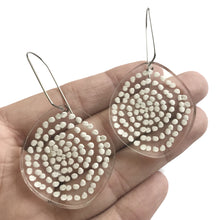 Load image into Gallery viewer, Spiral Dots Earrings in Clear - Mikmat Designs