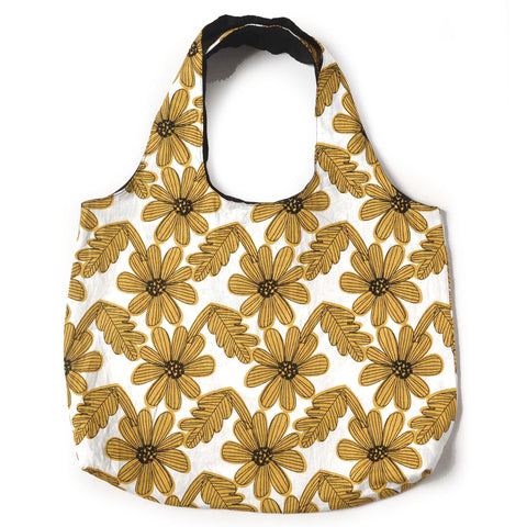 Linen Flowers Tote Bag - Mikmat Designs Earrings Laser Cut Designs
