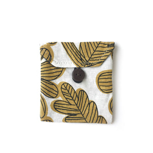 Pocket in Yellow Linen Flower - Mikmat Designs