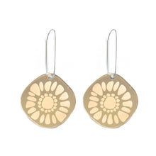 Load image into Gallery viewer, Frozen Sunshine Gold Mirror Earrings - Mikmat Designs