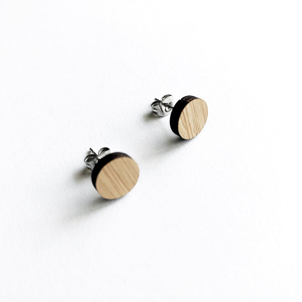 Dot Stud Earrings CHOOSE YOUR COLOUR - Mikmat Designs Earrings Laser Cut Designs