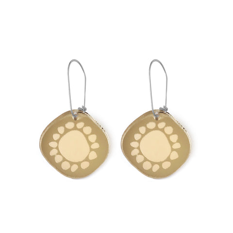 Mini Sunshine Earrings Gold Mirror - Mikmat Designs Earrings Laser Cut Designs