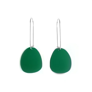 Pendulum Hook Earrings Dark Green - Mikmat Designs
