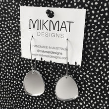Load image into Gallery viewer, Pendulum Hook Earrings Silver Mirror - Mikmat Designs