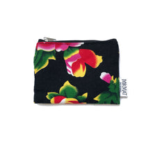 Load image into Gallery viewer, Small Pouch in Black Peacock fabric - Mikmat Designs
