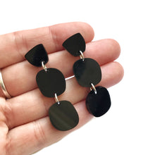 Load image into Gallery viewer, Trio Earrings in Black