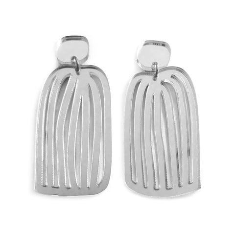 Waterfall Earrings Silver
