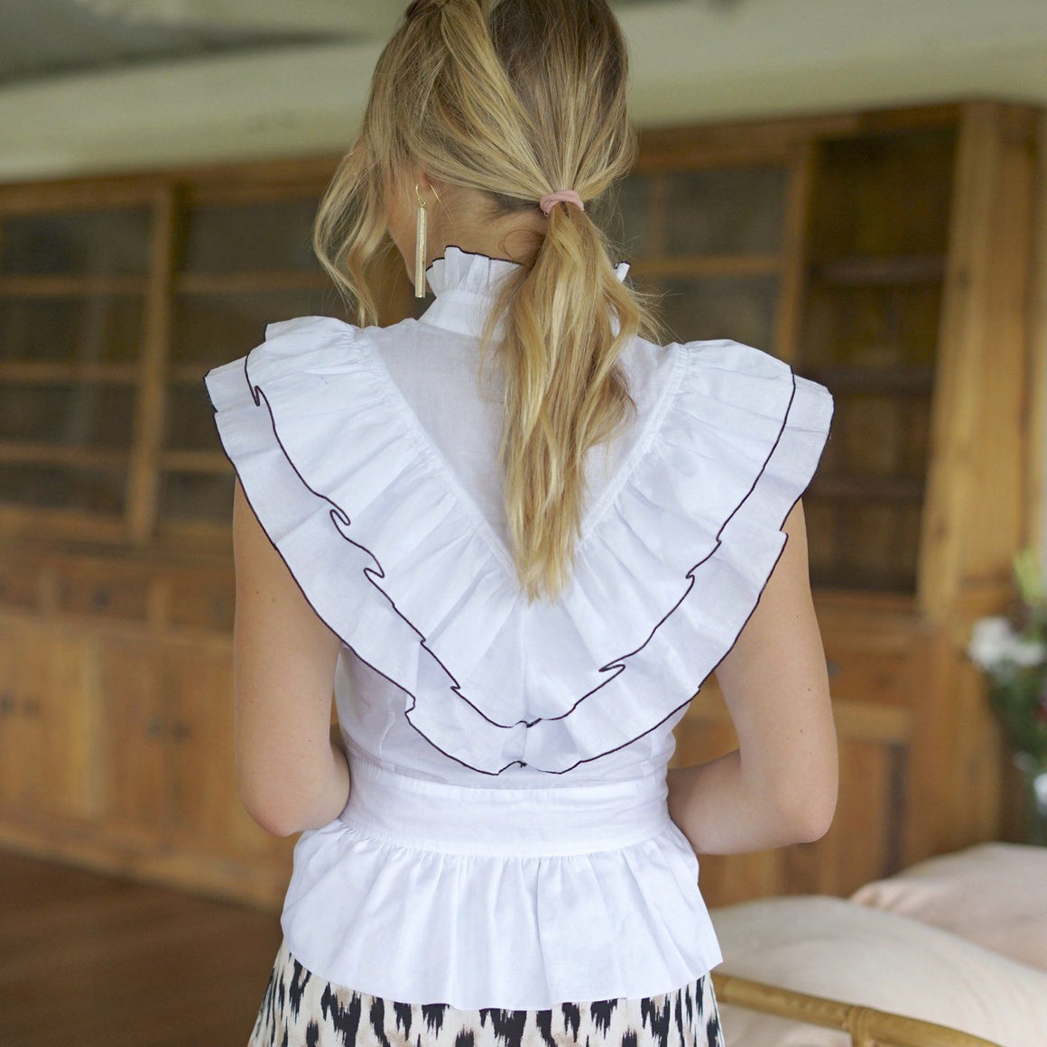 White Ruffle Top by Feather & Find