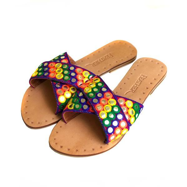 rasta slide Shoes Feather & Find