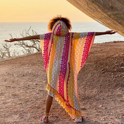 sahara poncho Kaftans Feather & Find