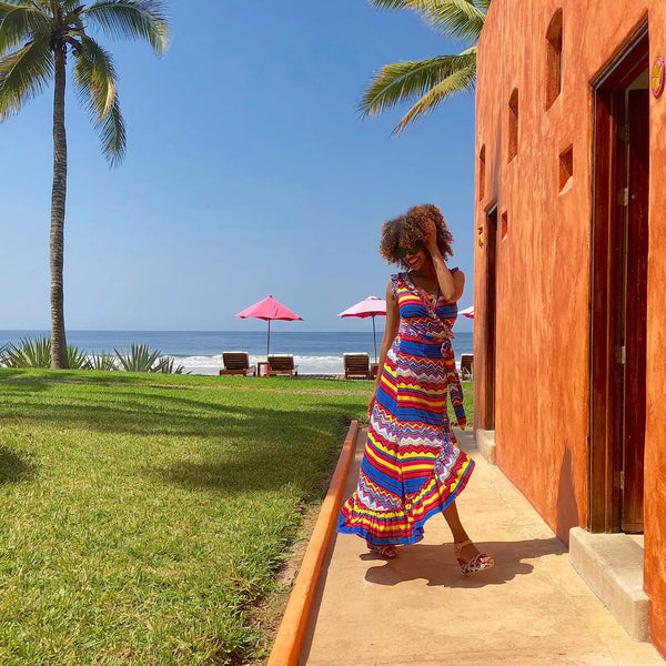 sunset romantic wrap dress Dresses Feather & Find