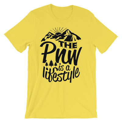 """The PNW is a lifestyle"" Unisex short sleeve t-shirt"