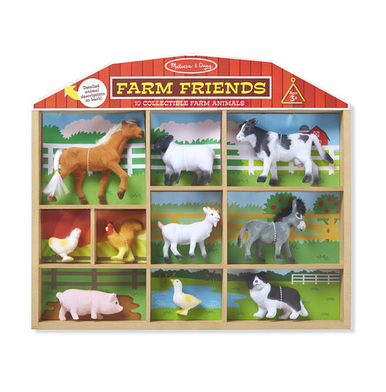 Melissa and Doug Farm Friends - 10 Collectible Farm Animals