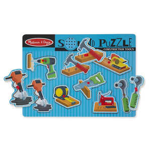 Melissa and Doug Construction Tools Sound Puzzle - All-Star Learning Inc. - Proudly Canadian