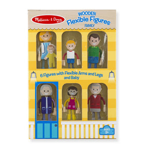Melissa and Doug Wooden Flexible Figures - Caucasian Family - All-Star Learning Inc. - Proudly Canadian
