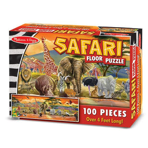 Melissa and Doug Safari Floor Puzzle - 100 Pieces - All-Star Learning Inc. - Proudly Canadian