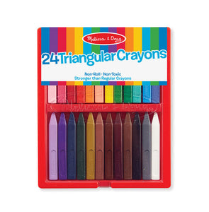 Melissa and Doug Triangular Crayons - 24 Pack