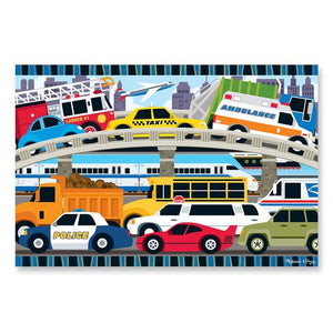 Melissa and Doug Traffic Jam Floor Puzzle - 24 Pieces