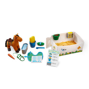 Melissa and Doug Feed & Groom Horse Care Play Set - All-Star Learning Inc. - Proudly Canadian