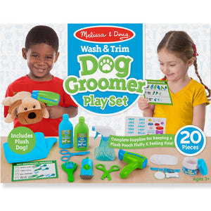 Melissa and Doug Wash & Trim Dog Groomer Play Set - All-Star Learning Inc. - Proudly Canadian