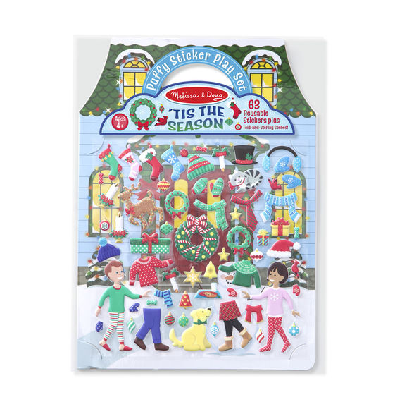 Melissa and Doug Puffy Stickers - 'Tis the Season