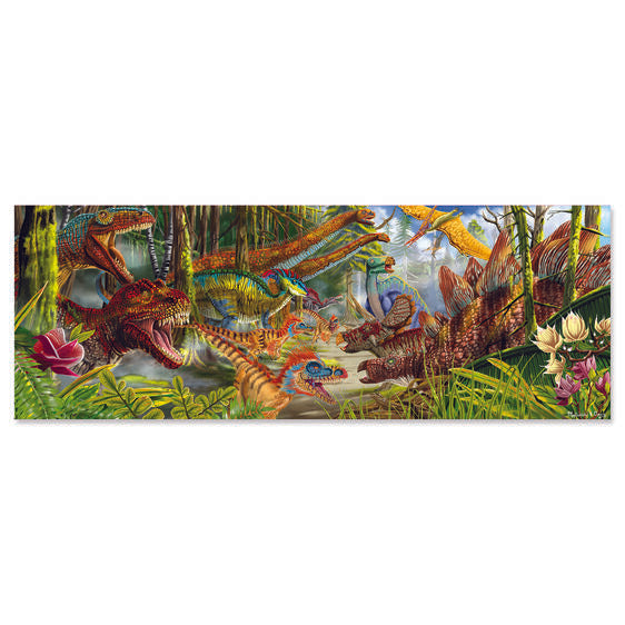 Melissa and Doug 200 Piece Floor Puzzle - Dinosaur World - All-Star Learning Inc. - Proudly Canadian
