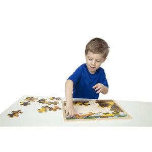 Melissa and Doug Diggers at Work Wooden Jigsaw Puzzle - 24 Pieces - All-Star Learning Inc. - Proudly Canadian