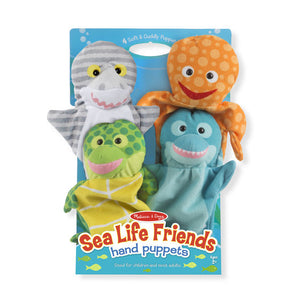 Melissa and Doug Sea Life Friends Hand Puppets