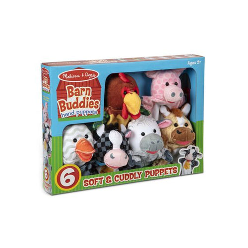 Melissa and Doug Barn Buddies Hand Puppets (6 Pc)