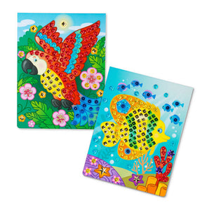 Melissa and Doug On the Go Sequin Scenes Activity Set - Animals