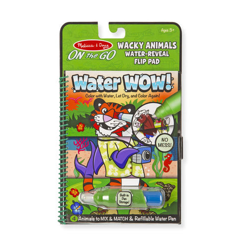 Melissa and Doug Water Wow! - Wacky Animals Water Reveal Flip Pad - ON the GO Travel Activity