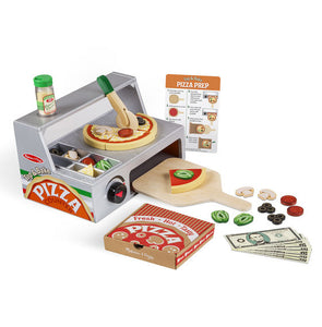Melissa and Doug Top & Bake Pizza Counter - Wooden Play Food - All-Star Learning Inc. - Proudly Canadian