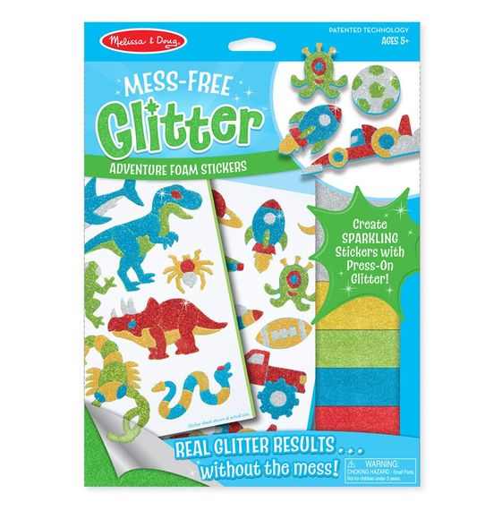 Melissa and Doug Mess-Free Glitter Adventure Foam Stickers - All-Star Learning Inc. - Proudly Canadian